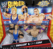 JACK SWAGGER & JOHN CENA - WWE RUMBLERS TOY WRESTLING ACTION FIGURES