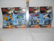 Hot Wheels Speed Racer Action Figure 2 Packs. The Four Included Speed Racer Two Packs are Rollin Thunder, Battle Board, Rockin Rocketbike, Kart Cannon. Includes Speed Racer (3), Pops, Spridle, Chim Chim, Racer X, Taejo, Jack Cannonball Taylor.