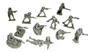 Classic Toy Soldiers WWII German Infantry 12 figures in 12 poses in gray