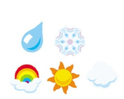 TREND ENTERPRISES INC. T-46039 SUPERSHAPES STICKERS WEATHER
