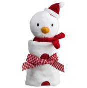 Little Christmas - Holiday Baby Cozie Blankie - Snowman