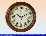 Bird Sounds Wall Clock - 12 Singing Birds with bird Sounds
