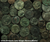 Lot of 10 - Uncleaned Ancient Roman Bronze Coins