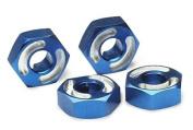 Traxxas TRA4954X 2.5x10mm Aluminium Hex Wheel Hubs with Axle Pins - Blue