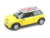 Mini Cooper S w/British Flag 1/28 Yellow
