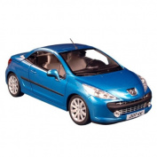 Peugeot 207 Blue Cabrio 1:18 Diecast Car Model Norev