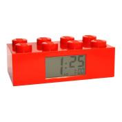 LEGO Kids' 9002168 Red Plastic Alarm Brick Clock