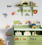 RoomMates Transportation Peel & Stick Applique -- multicolor