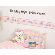 So many toys... So little time childrens wall decal kids sticker quote