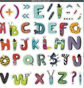 Djeco / Animal Alphabet Removable Wall Clings