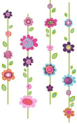 Roommate RMK1622GM Flower Stripe Giant Wall Decals