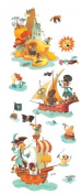 Treasure Island Re Positionable Wall Stickers