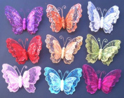 Silver Double Layer Butterfly Christmas Decor