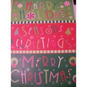 Christmas Window Clings ~ Happy Holidays, Season's Greetings, & Merry Christmas