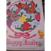 Easter Window Clings ~ Bunny Wreath