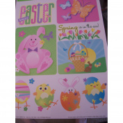 Easter Window Clings ~ Quotes & Dancing Eggs