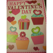 Valentine Window Clings ~ Cupcakes and Hearts