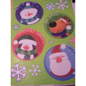 Christmas Window Clings ~ Characters, Sayings, & Snowflakes
