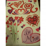 Valentine Window Clings ~ Bee Mine with Flowers of Love