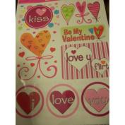 Valentine Window Clings ~ I Love You Flirt