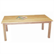 30''x48'' Rectangular Hardwood Table