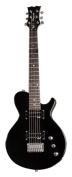 Dean Playmate EVO Junior Solid Body Electric Guitar, Classic Black, 3/4-Size
