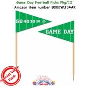 Game Day Football Picks 2½in. (50/pkg) Pkg/3