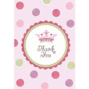 Little Princess Folded Thank You Cards- 8ct