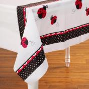 Creative Converting Ladybug Fancy Plastic Table Cover, Rectangle 140cm X 270cm