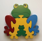 Large Wooden Frog Jigsaw Puzzle