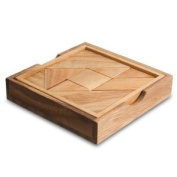 Tangram Tactile Square Wooden Puzzle