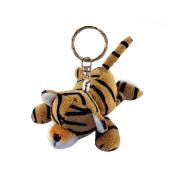 Soft Plush Tiger Keychain - Cute Fun Animal Key Ring Chain Holder Fob