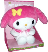 Sanrio 25cm Plush Toy - My Melody the Bunny with Pink Hood and Yellow Ribbon