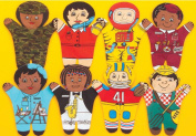 Dexter Educational Toys DEX840B Career 8 Piece Puppet Set - African-American