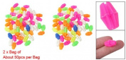 2 Bag Colourful Plastic Clip Spoke Bead Bicycle Decor for Kid Bike