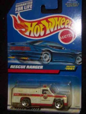 -#1061 Rescue Ranger Condition Mattel Hot Wheels 1:64 Scale