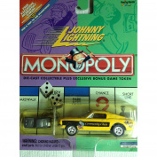 Johnny Lightning Monopoly Bus (Die Cast) - Yellow Community Chest/Pay School Tax of $150