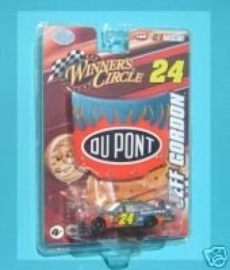 Jeff Gordon #24 Dupont Flames Car of Tomorrow 1/24th Hood with 1/64th Car Winners Circle