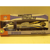 2003 NFL Team Collectible Fleer Limited edition Jacksonville Jaguars 1:80 scale Tractor Trailer