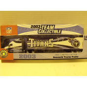2003 NFL Team Collectible Fleer Limited edition Tennessee Titans 1:80 scale Tractor Trailer
