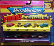 "MicroMachines #48cm Giant Fins"" with 5 bonus cars"