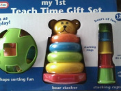 Teach Time Gift Set with Shape Sorter, Bear Stacker & Stacking Cups