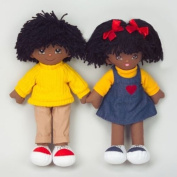 Dexter Educational Toys DEX306B Boy and Girl Dolls - African American