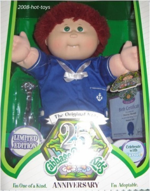 Cabbage Patch Kids 25th Anniversary Caucasian Sailor Boy Red Brown Hair Green Eyes Dimples Tooth
