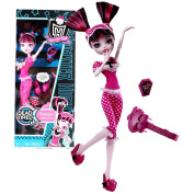 """Mattel Year 2010 Monster High """"Dead Tired"""" Series 25cm Doll - Draculaura """"Daughter of Dracula"""" with Pair of Slippers, Hairbrush and Doll Stand"""