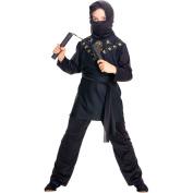 Kids Ninja In Black Costume