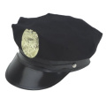 NAVY BLUE POLICE HAT WITH BADGE