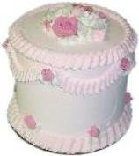 23cm Pink Lace Tall Cake Fake Food