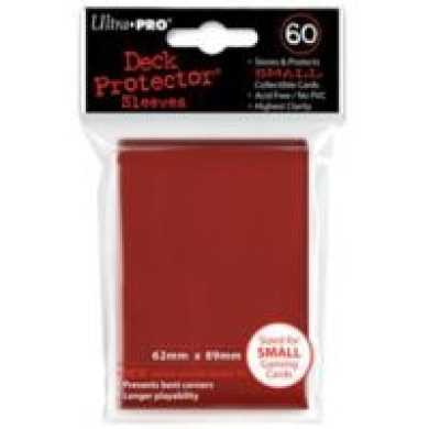 Trading Card Sleeves - 60 Ultra Pro Red Deck Protectors YuGiOh! Sized
