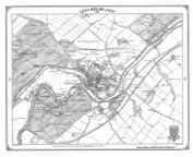 Kelso 1858 Heritage Cartography Victorian Town Map Series